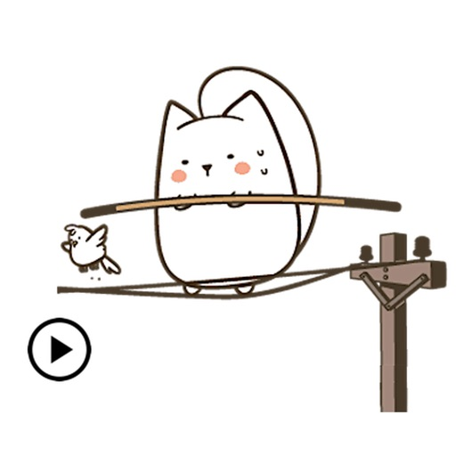 Animated Adorable Cat Stickers