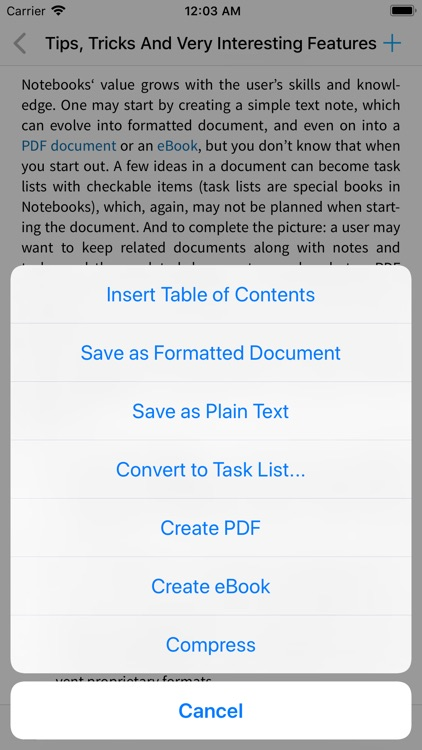 Notebooks for iPhone screenshot-8