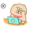 Animated Chow Chow Dog Sticker