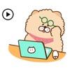 Animated Chow Chow Dog Sticker