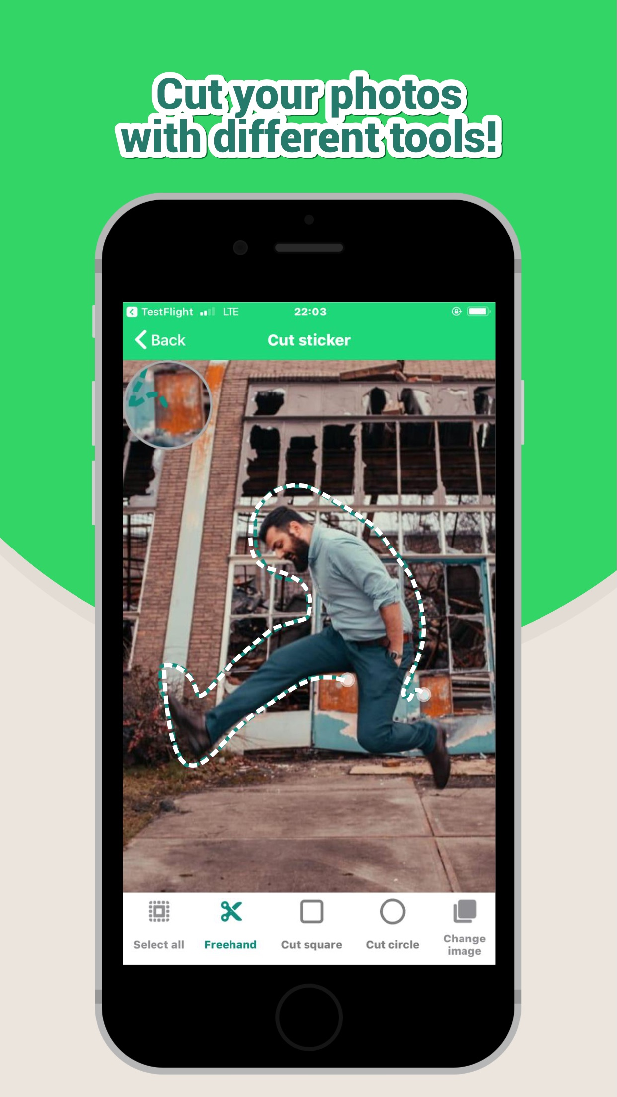 Screenshot do app Sticker Maker Studio