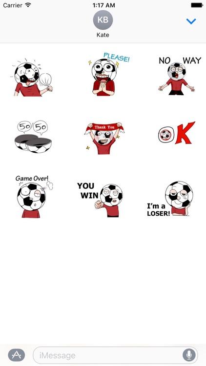 Animated Football Man Sticker