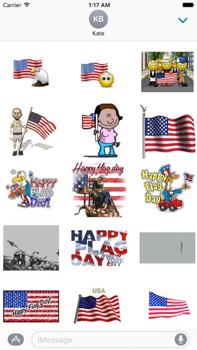 Happy Flag Day Sticker screenshot 1