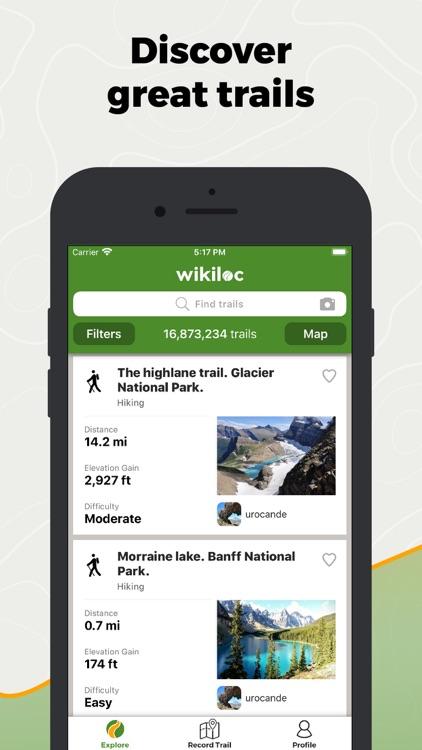 Wikiloc Outdoor Navigation GPS screenshot-0