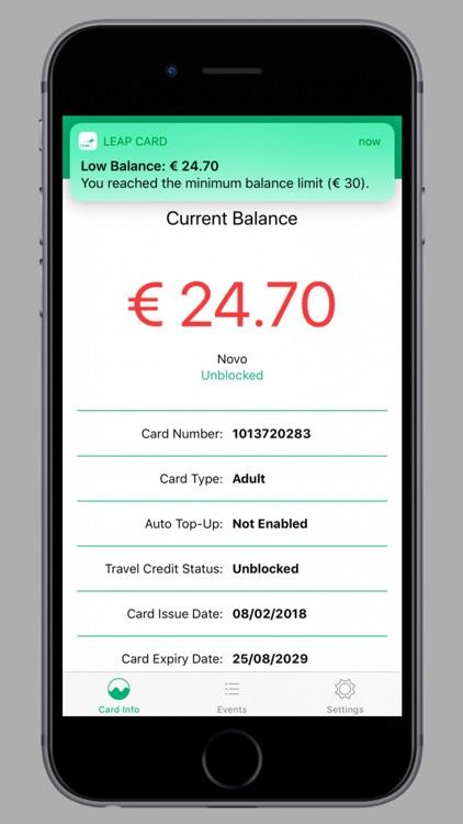 Leap Card Balance
