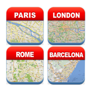 European Offline Travel Map - City Metro Airport with Navigation, Weather & Currency