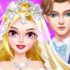 女の子の結婚式のドレスアップ