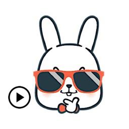 Animated Bunny Emoji Sticker