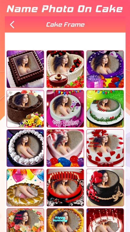 Name Photo On Cake
