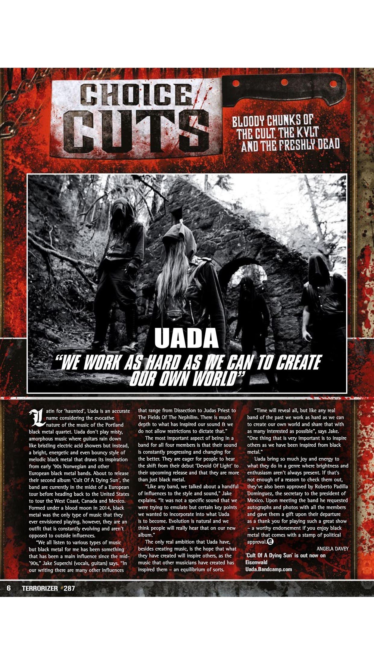 Terrorizer Magazine Screenshot