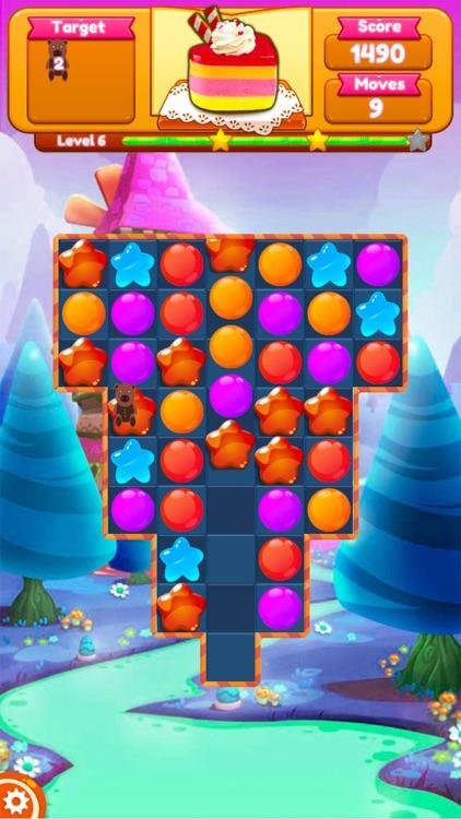 Sweet Candy Blast Fruit puzzle