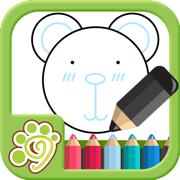 益智涂鸦涂色画画板儿app-教育童画画游戏