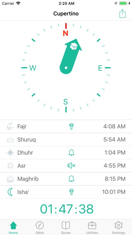 Muezzin - Prayer Times & Qibla
