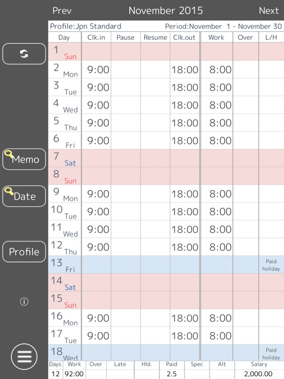 work log hd time sheet by manabu hirata