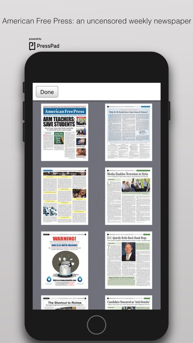 American Free Press Screenshot