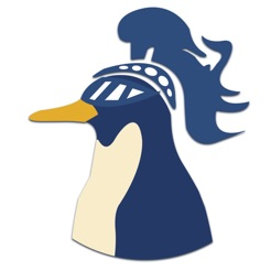 Via Itunes.com [Image description: CARLS app logo, the profile of a penguin wearing a knight's helmet.]