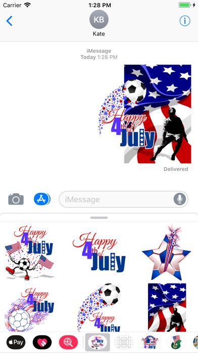 点击获取Soccer 4th of July Stickers