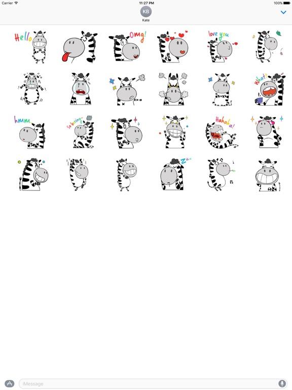 Funny Zebra Zebramoji Sticker screenshot 3