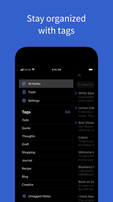 Simplenote – Notes and Todos ScreenShot3