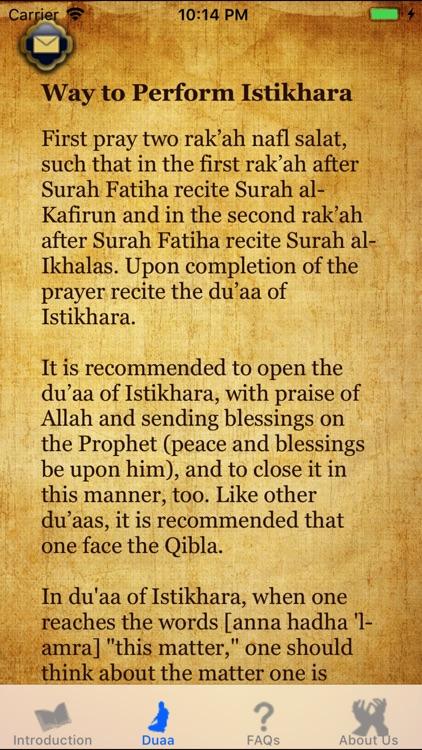Istikhara du'aa - Guide Prayer screenshot-3