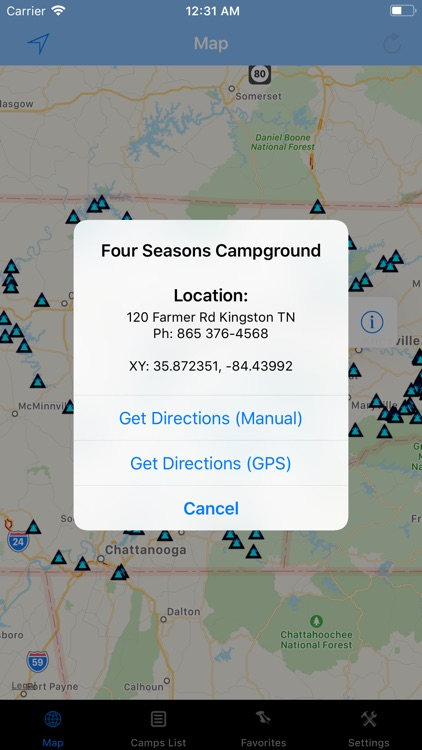 Tennessee – Camping & RV spots screenshot-1