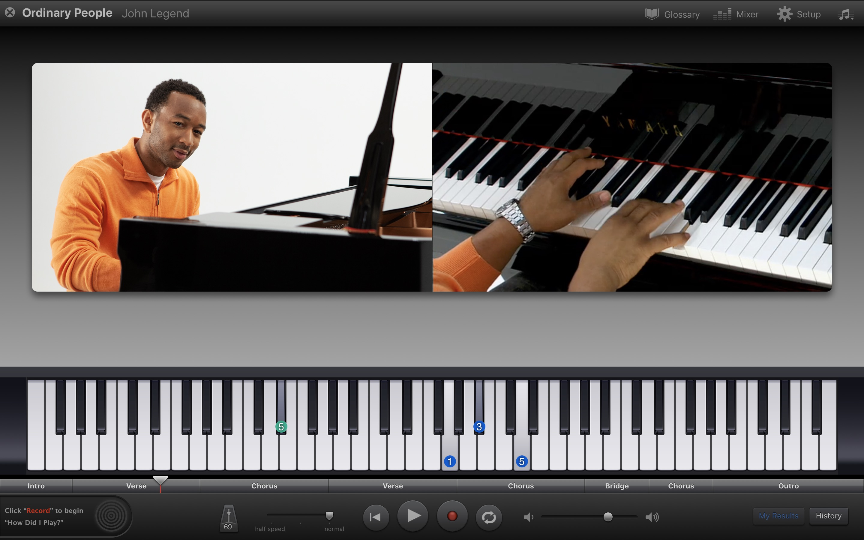 Screenshot do app GarageBand