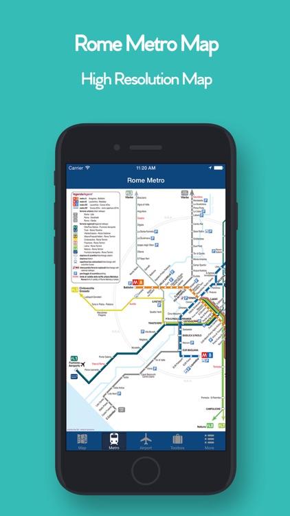 Rome Offline Map, Metro Air