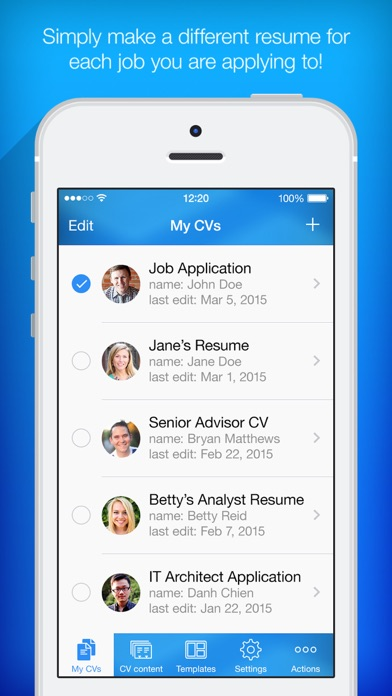 Resume Builder, Resume Creator App Data & Review - Business - Apps ...