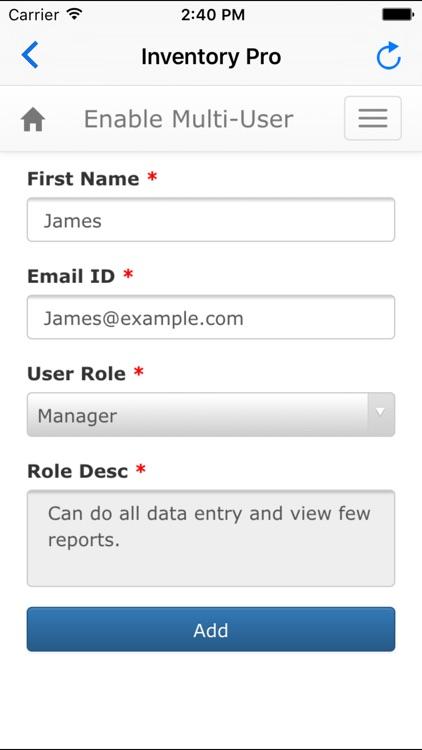 Inventory Pro - Multi User App screenshot-3