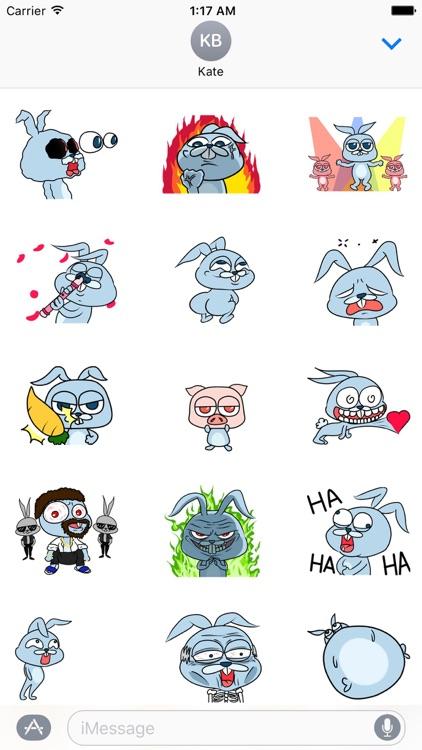 Crazy Rabbit Animated Stickers