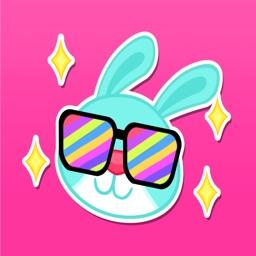 Rad Bunny Stickers