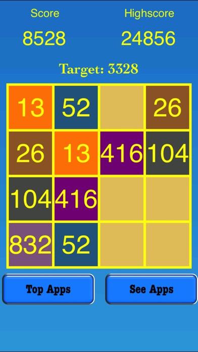 3328 Number Tiles Merge Game screenshot 3
