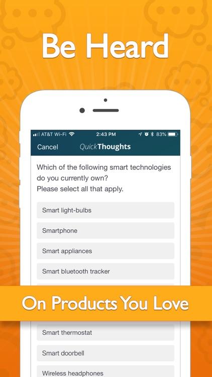 QuickThoughts - Earn Rewards screenshot-4