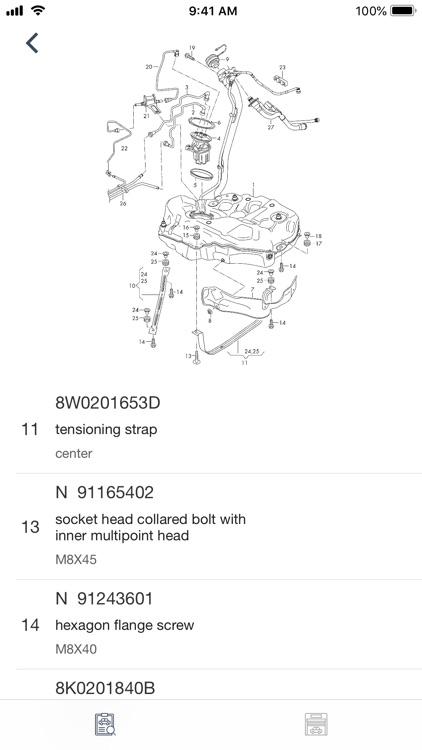 Car parts for Audi - diagrams