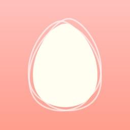 基礎体温グラフで生理日・排卵日予測する妊活アプリ:eggy