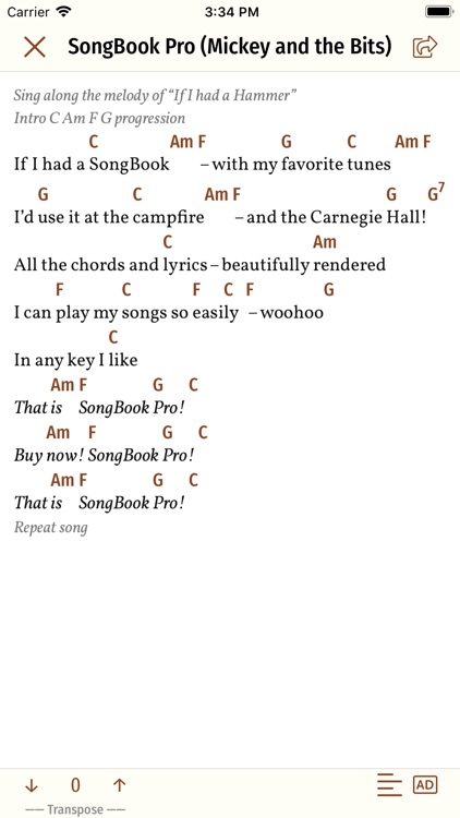 Song Book Pro by Michael Lauer