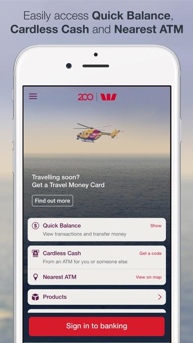 Westpac Mobile Banking screenshot one
