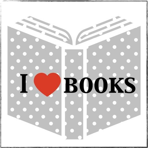 I love books stickers