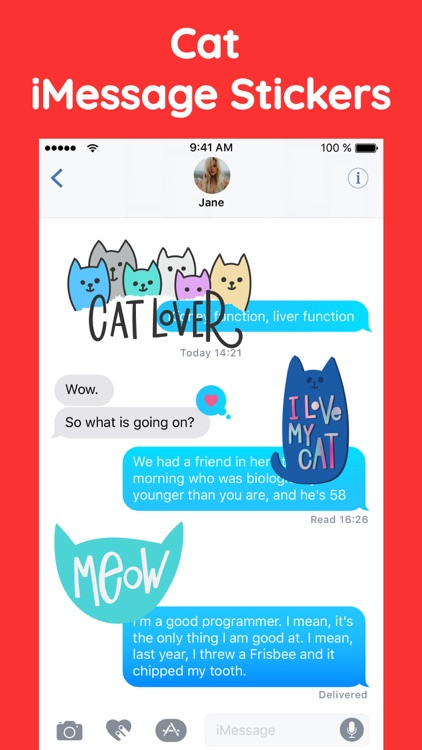 Pusheen Cat Text Sticker Pack