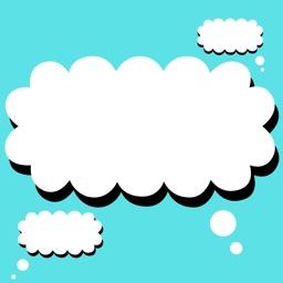 Cloud talk stickers