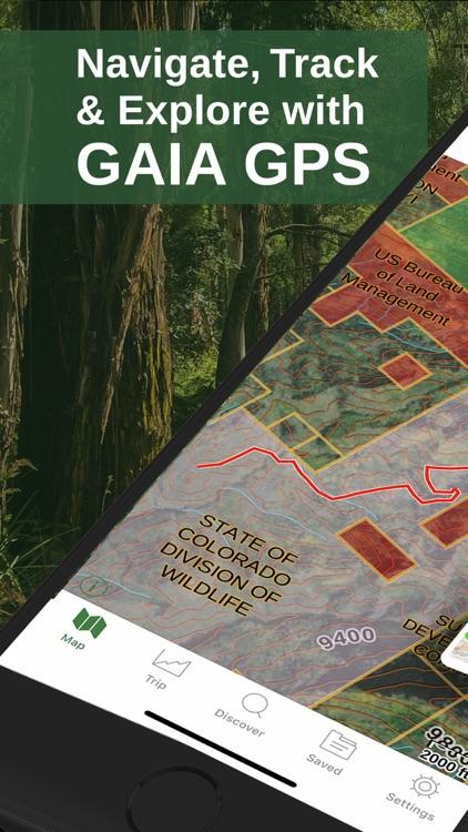 Gaia GPS Hiking, Offroad Maps screenshot-0