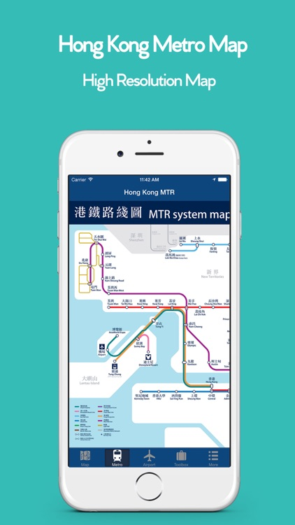 Hong Kong Offline Map, Metro