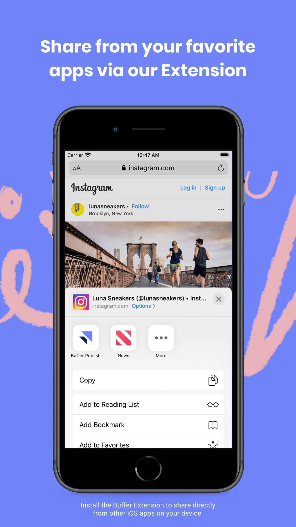 Screenshot do app Buffer: Social Media Tools