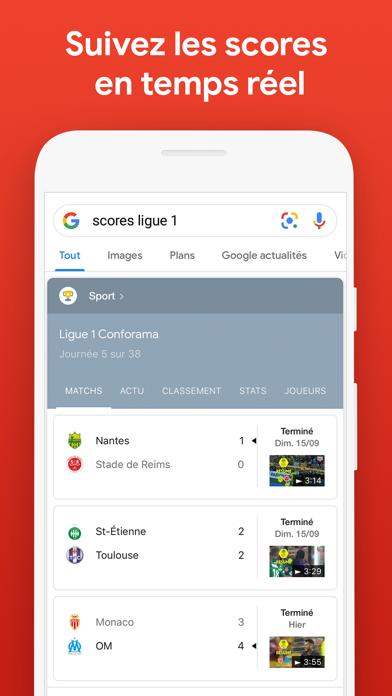 Google iphone captures décran