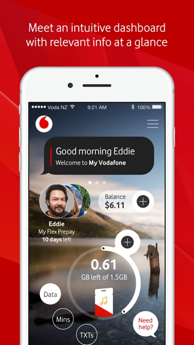 Screenshot for My Vodafone New Zealand in New Zealand App Store
