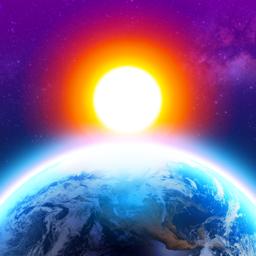 Ícone do app 3D Earth - widget do tempo