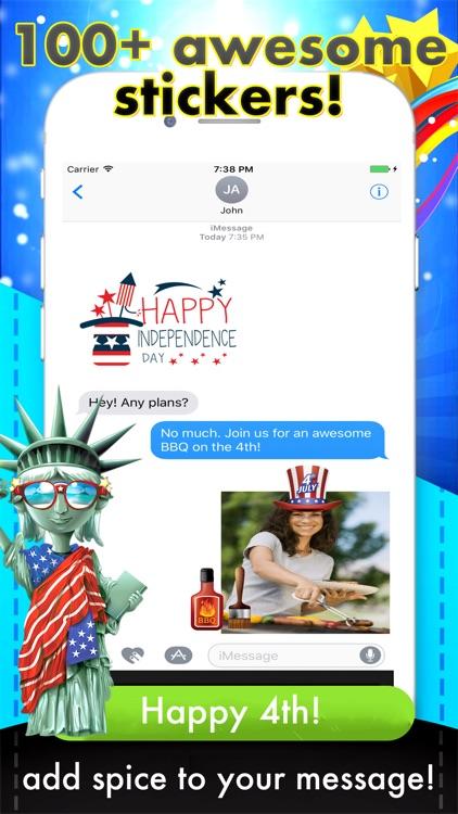 USAmoji - 4th of July Stickers