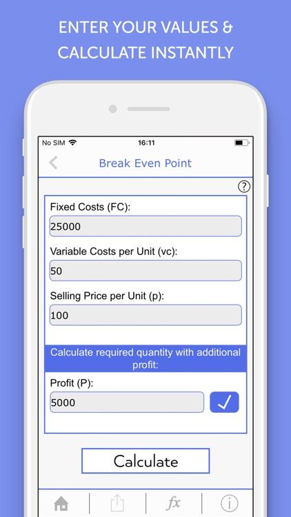 Cost Accounting Calculator