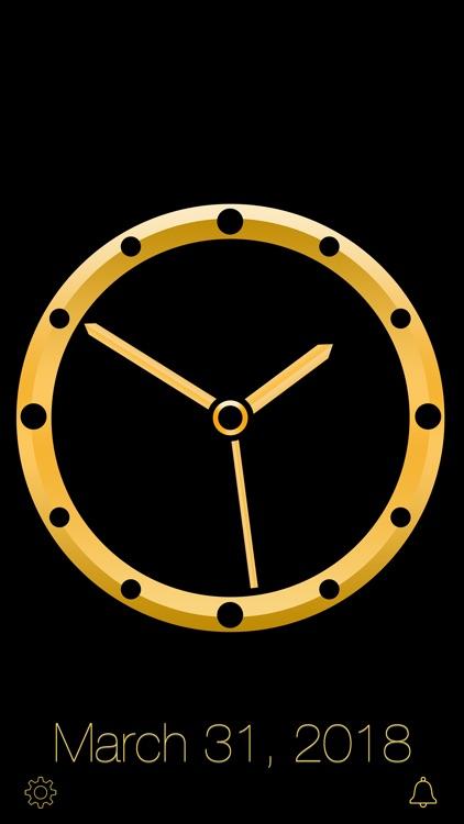 Gold Luxury Clock screenshot-8