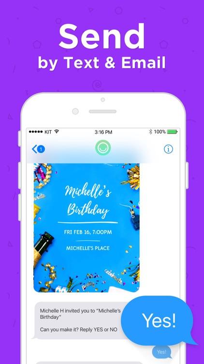 Hobnob Invitations & Text RSVP